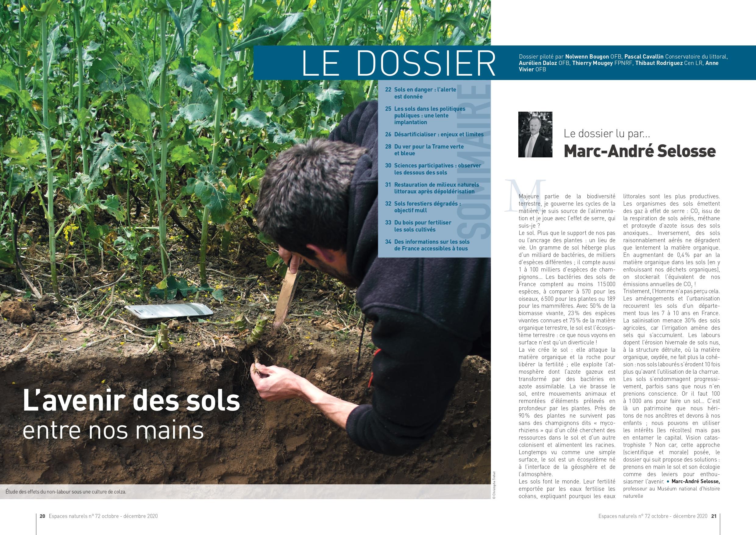 Étude des effets du non-labour sous une culture de colza.          © Christophe Tréhet