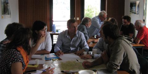 Atelier de concertation autour des services écosystémiques.