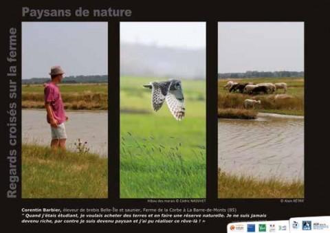 La LPO Vendée a réalisé une exposition photo pour mettre en valeur des agriculteurs respectueux de la biodiversité, leur conviction et leur savoir-faire.