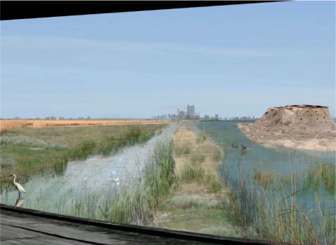 Illustration du projet de renaturation du site de la jungle de Calais.